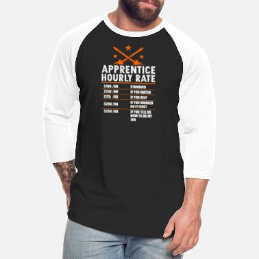 Apprentice Electrician Shirt Hourly Rate, Vintage Electrician - Unisex Baseball T-Shirt
