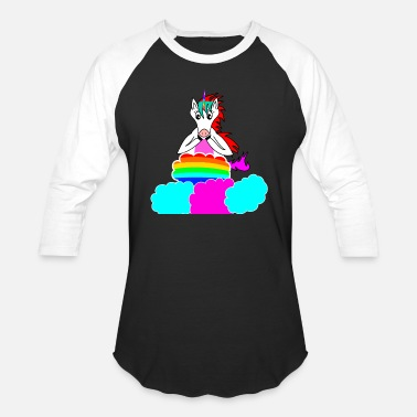 Unicorn On Clouds Unicorn on a cloud - Baseball T-Shirt