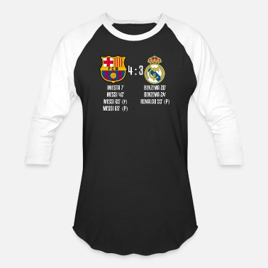 Real Madrid Fc FC Barcelona 4-3 Real Madrid - Baseball T-Shirt