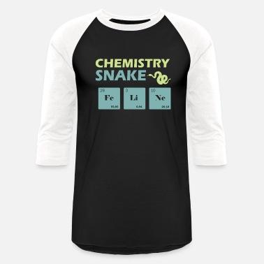 1c34d154 Chemistry Snake love Reptile - Unisex Baseball T-Shirt