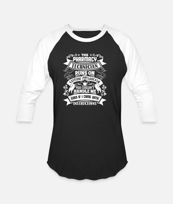 Tech T-Shirts - Pharmacy Tech - Unisex Baseball T-Shirt black/white