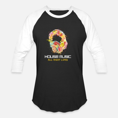 House Music House Music Headphones DJ Gift - Unisex Baseball T-Shirt