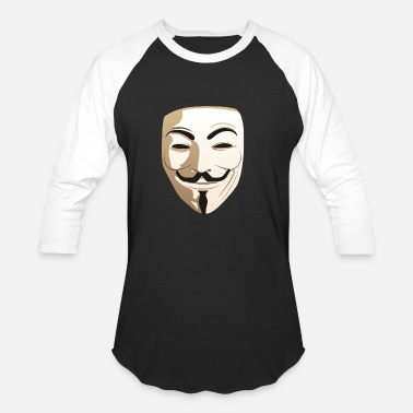 Anonymous Freedom Of Expression Anonymous Guy Fawkes Mask Freedom Vendetta Gift - Unisex Baseball T-Shirt
