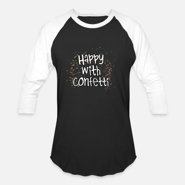 Costume Carneval Happy With Confetti Carneval Costume Gift Idea - Unisex Baseball T-Shirt