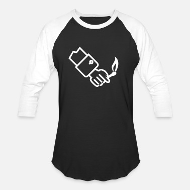 Forearm Forearm with burning match - Unisex Baseball T-Shirt