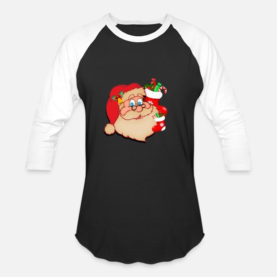 Santa T-Shirts - Santa Claus - Unisex Baseball T-Shirt black/white