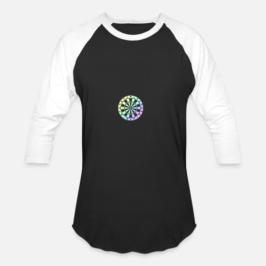 Gift Idea T-Shirts - darts bullseye dart sport gift idea - Unisex Baseball T-Shirt black/white