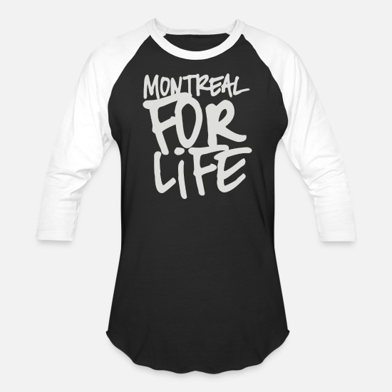 Life Force T-Shirts - Montreal for life - Unisex Baseball T-Shirt black/white