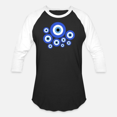 Greece Turkish & Greek Evil Eye Nazar Amulet - Unisex Baseball T-Shirt