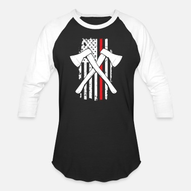 American Fighter Firefighter - Unisex Baseball T-Shirt