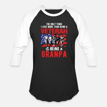 Veterans Day Veterans Day - Grandpa Veteran - Baseball T-Shirt