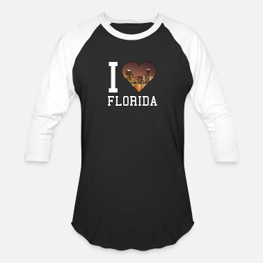 Womens I Love Florida I Love Florida - Florida - Total Basics - Baseball T-Shirt