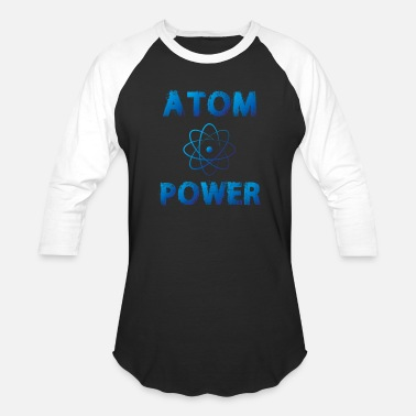 Atomic-power Atom Power - Unisex Baseball T-Shirt