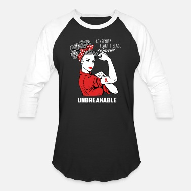 Warrior Congenital heart disease Warrior Unbreakable - Unisex Baseball T-Shirt