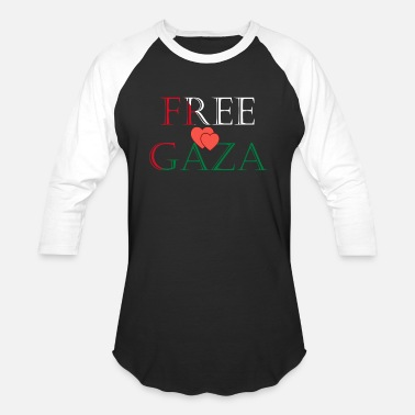 Gaza Strip free gaza - Baseball T-Shirt