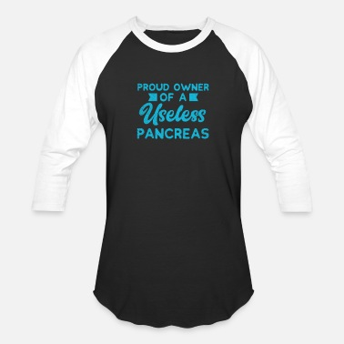 Type Diabetes Funny Type 1 And Type 2 Gift - Baseball T-Shirt