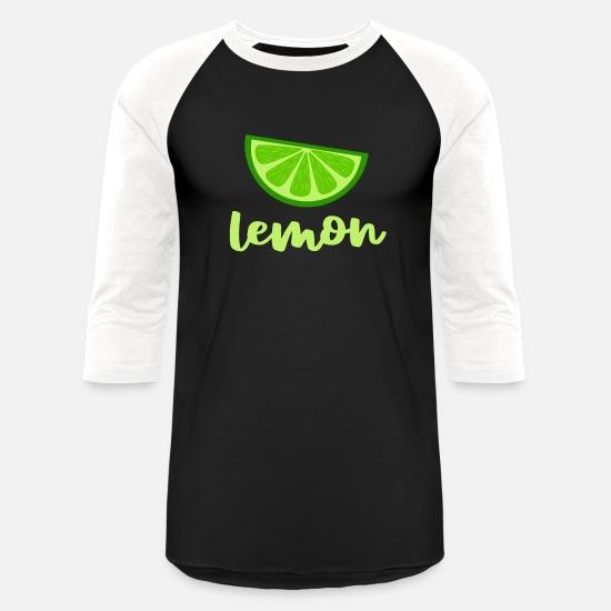 ec84d84fe72 Lemons T-Shirts - Green Lemon - Unisex Baseball T-Shirt black/white