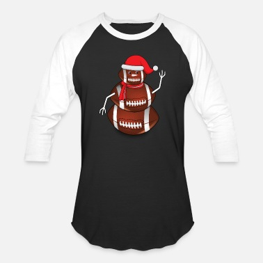 Rugby Christmas Rugby Schneemann Football Christmas - Baseball T-Shirt