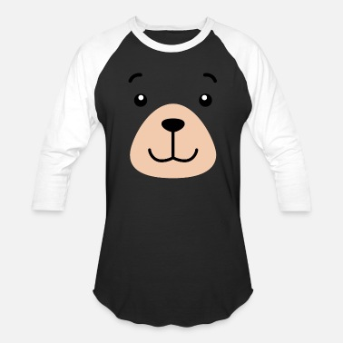 Girl Power Bear Face Costume Shirt Funny And Cute Animal Tee - Baseball T-Shirt