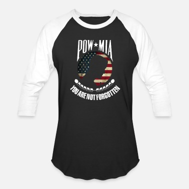 Prisoner Of War POW MIA American flag you are not forgotten - Baseball T-Shirt