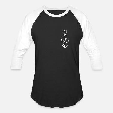 Earphones Note Earphone - Unisex Baseball T-Shirt