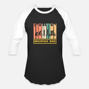 Evolution Mountain Bike Mountain bike shirt - Bike - Downhill - Evolution - Baseball T-Shirt