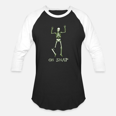 Skeleton Oh snap - Unisex Baseball T-Shirt