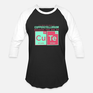 Elements Joke copper tellurium cute chemistry joke element - Baseball T-Shirt
