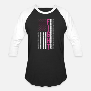 Fight Cancer Fight Cancer Flag Shirt - Baseball T-Shirt