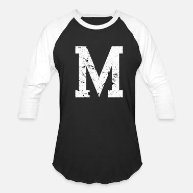 Letters Of The Alphabet Vintage Letter M Gift for college students, sorority or fraternity - Baseball T-Shirt