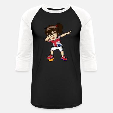 Uk Basketball Dabbing Girl UK Flag London Basketball Practice - Unisex  Baseball T-Shirt d418a2d69230
