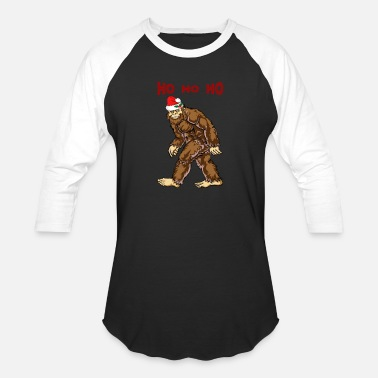 Urban Bigfoot Christmas Shirt Boy Women Men Santa - Baseball T-Shirt