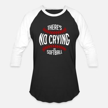 Fastpitch Softball - funny fastpitch there's no crying in - Unisex Baseball T-Shirt