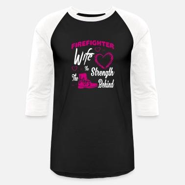 4a962e7c0 Firefighter Couple Firefighter Wife T Shirt - Unisex Baseball T-Shirt