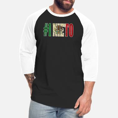 Nieto Nieto Gift Mexican Design For Mexican Flag Design for Mexican Pride Vintage Outline - Unisex Baseball T-Shirt