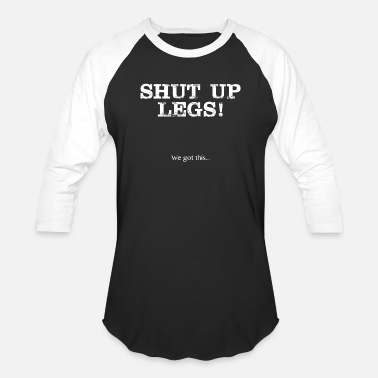 Running Funny Running Design Shut up legs - Baseball T-Shirt