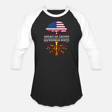 Macedonia American Grown with Macedonian Roots Macedonia - Unisex Baseball T-Shirt