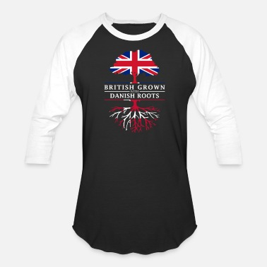 Ancestry British Grown with Danish Roots Denmark Design - Unisex Baseball T-Shirt