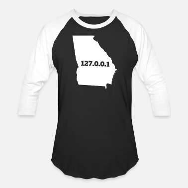 Georgia Home Georgia 127.0.0.1 Home Computer Nerd IP Address - Baseball T-Shirt