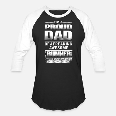 Dexys Midnight Runners Runner - Proud dad of a freaking awesome runner - Baseball T-Shirt