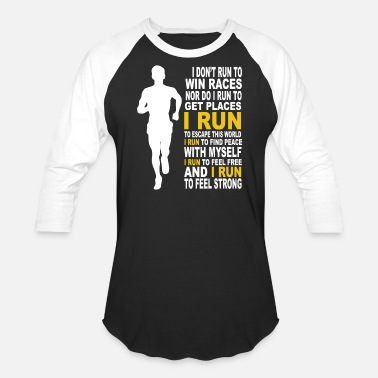 Dexys Midnight Runners Run - I run to feel free and to feel strong - Baseball T-Shirt