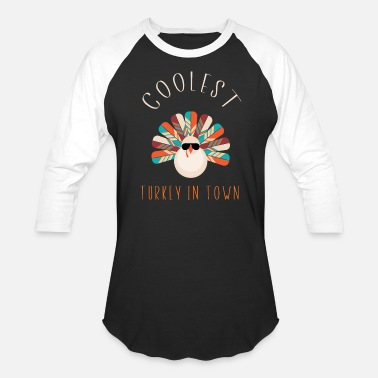 Toddlers Funny Cute Toddler Boys Girls Thanksgiving T-Shirt - Unisex Baseball T-Shirt