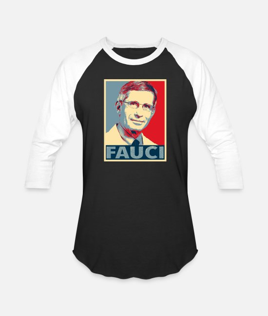 Im With Fauci T-Shirts - Doctor Anthony Stephen Fauci - Support Dr. Fauci - Unisex Baseball T-Shirt black/white