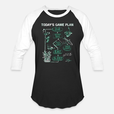 Scuba Scuba diving - today's game plan - scuba diving - Baseball T-Shirt