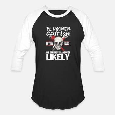 Offensive Languages Plumber Pipefitter Offensive Language Skull Gift - Baseball T-Shirt