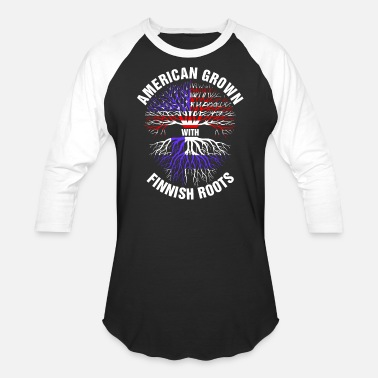 Finnish Patriot American Grown Finnish Roots - Baseball T-Shirt