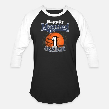 Matching Couples Basketball Wedding Couples Basketball 1 Couple Shirts Basketball - Unisex Baseball T-Shirt