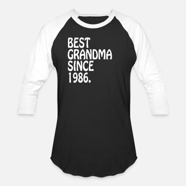 Best Clothing Best Grandma Clothes 1986 Best Gifts Grandma - Baseball T-Shirt