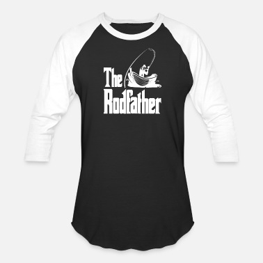 Fisherman The Rodfather Funny Dad Fishing Gift - Unisex Baseball T-Shirt