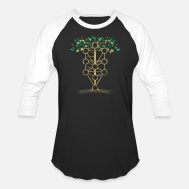 Kabbalah Kabbalah The Tree of Life - Etz haChayim - Unisex Baseball T-Shirt